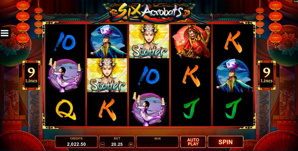 สล็อต Six Acrobats กับ Dragon Orb