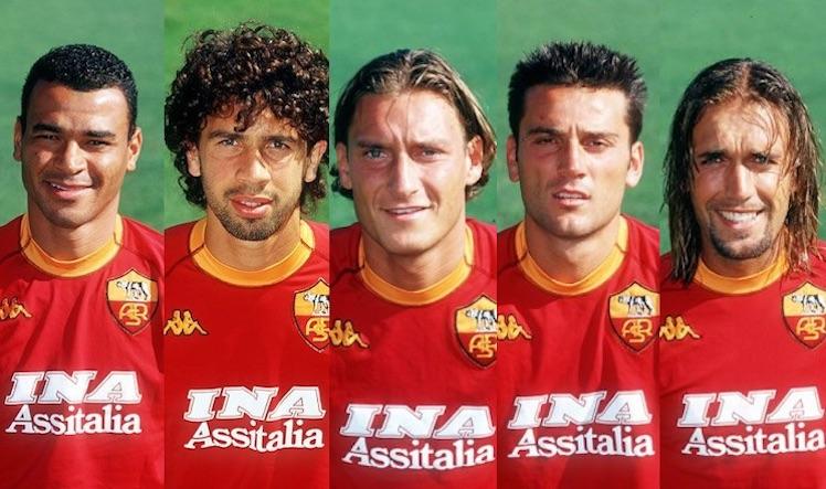 Aldair, Cafu, Gabriel Batistuta , Totti