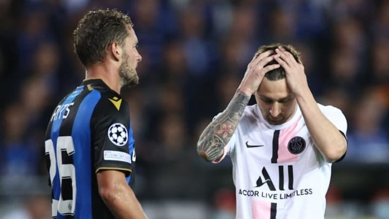 คลับ บรูชเสมอปารีสฯ 1-1 ในฟุตบอลยูฟ่า แชมเปี้ยนส์ลีก รอบแบ่งกลุ่ม กลุ่ม เอ